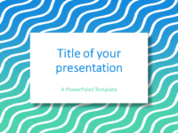 Blue Green Gradient Wavy Pattern PowerPoint Template