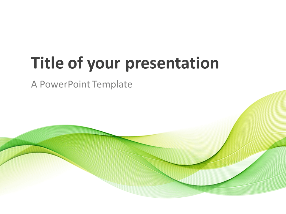 Modern Green Waves Powerpoint Template Presentationgo
