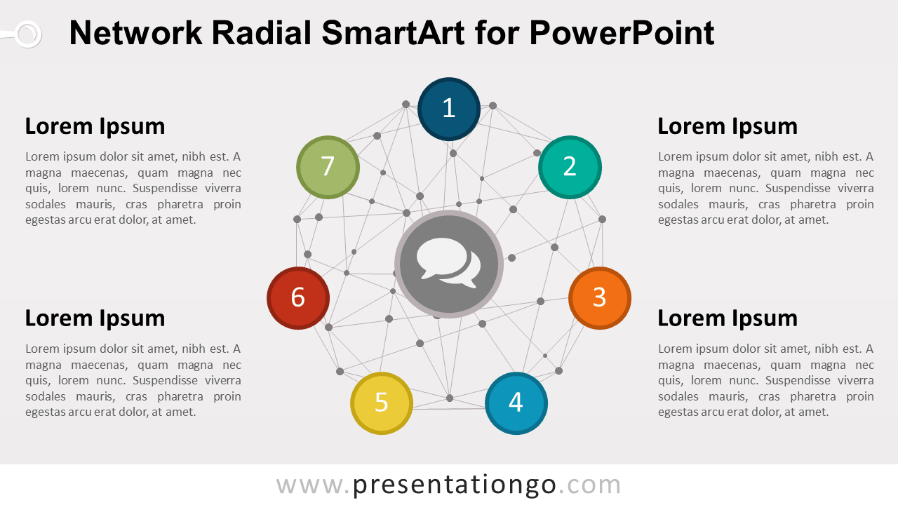 Network Radial Smartart For Powerpoint