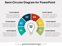 Semi-Circular Diagram for PowerPoint