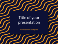 Yellow Blue Wavy Pattern PowerPoint Template