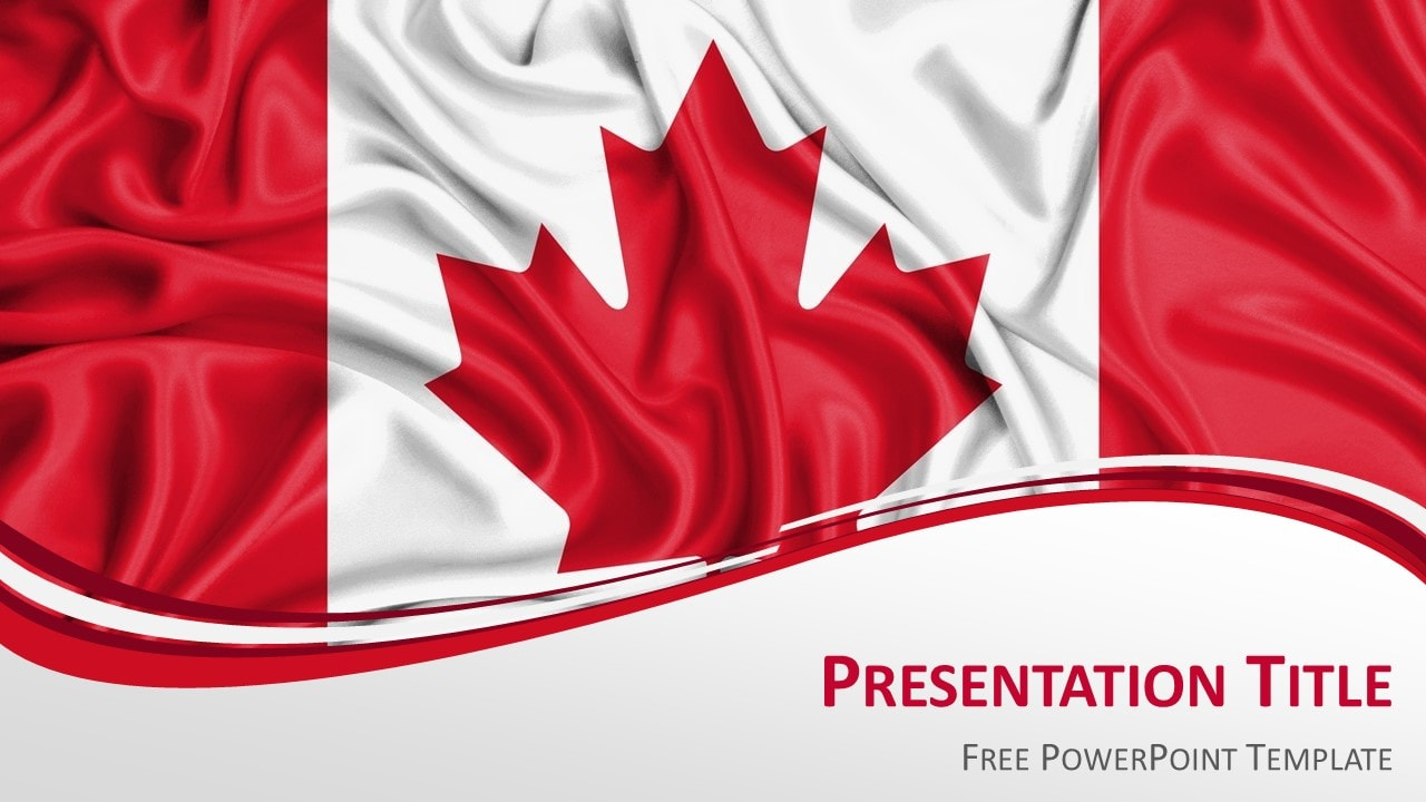 canada flag powerpoint template presentationgocom