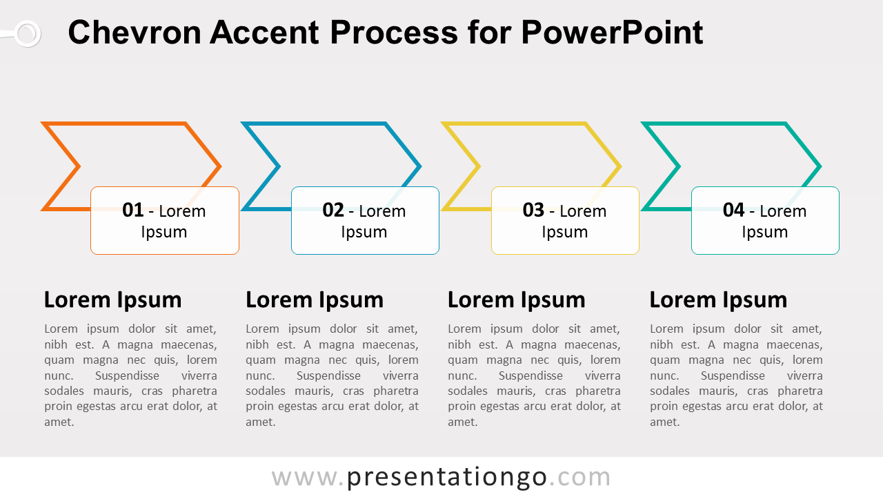 chevron accent process for powerpoint