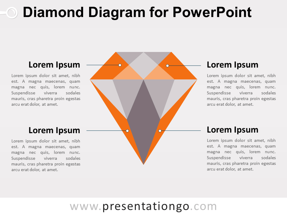 Diamond Diagram for PowerPoint