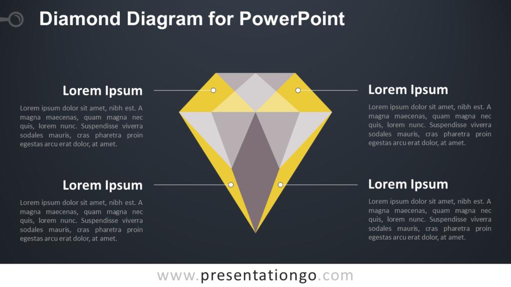 Diamond PowerPoint Template - Dark Background