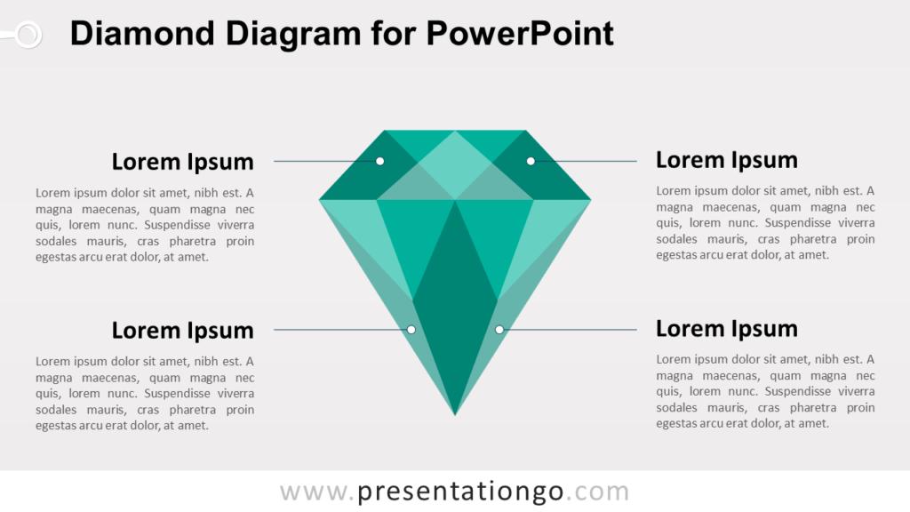 Green Diamond PowerPoint Template
