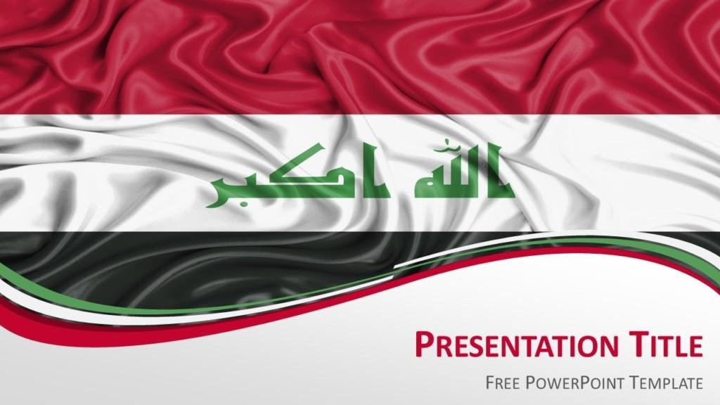 Iraq Flag PowerPoint Template