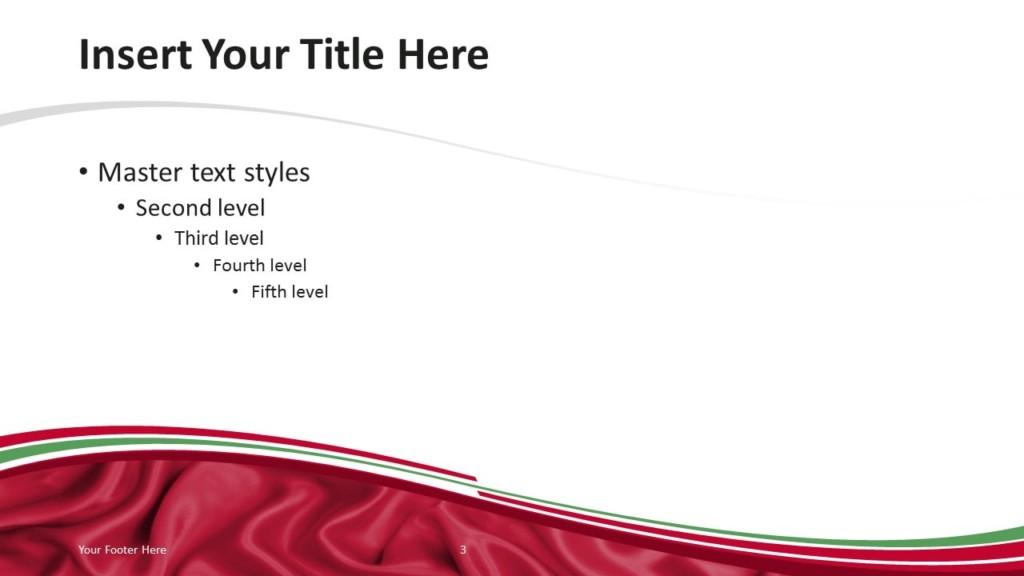 Iraq Flag PowerPoint Template - Content Slide 2