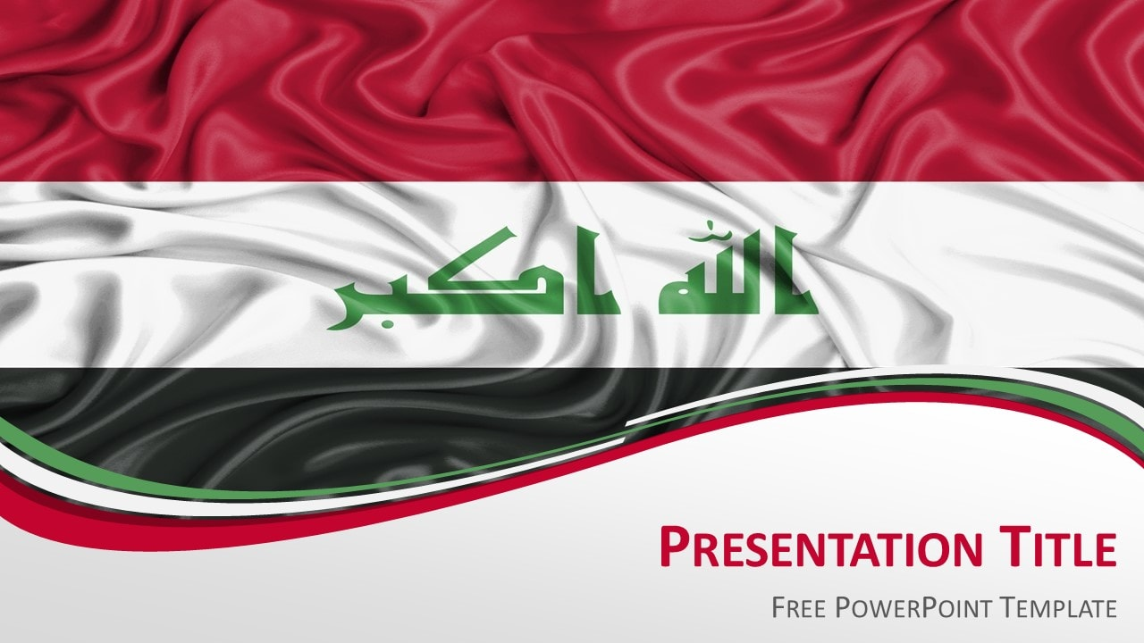 Iraq Flag PowerPoint Template