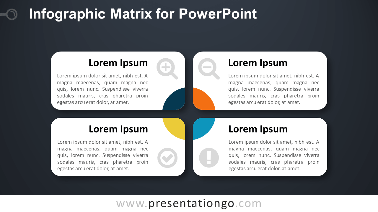 Matrix Diagram for PowerPoint - Dark Background