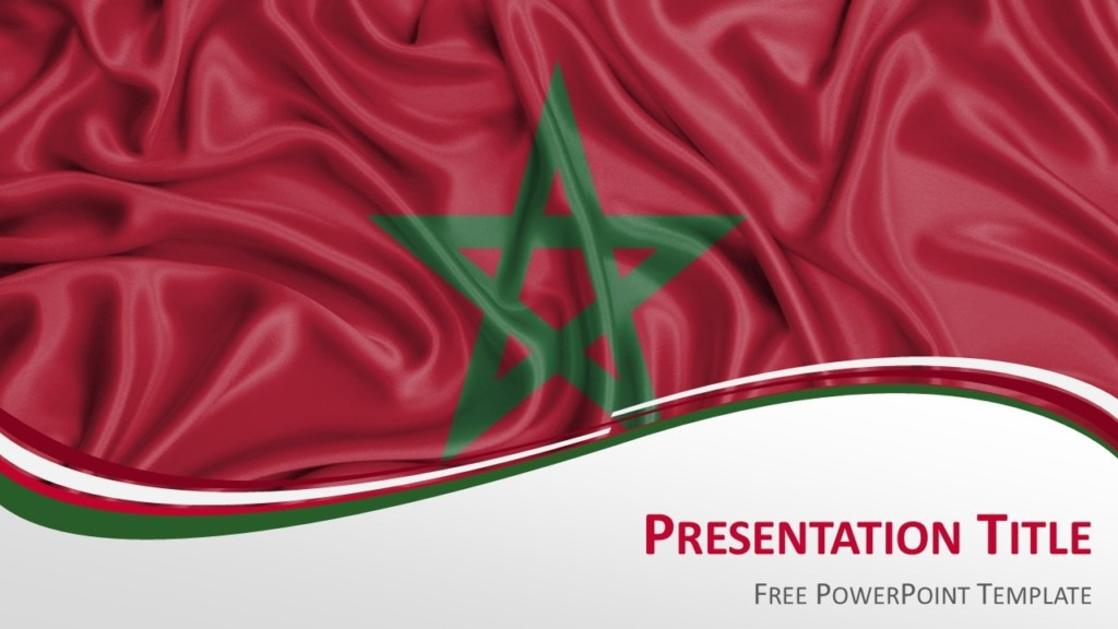 Morocco Flag PowerPoint Template