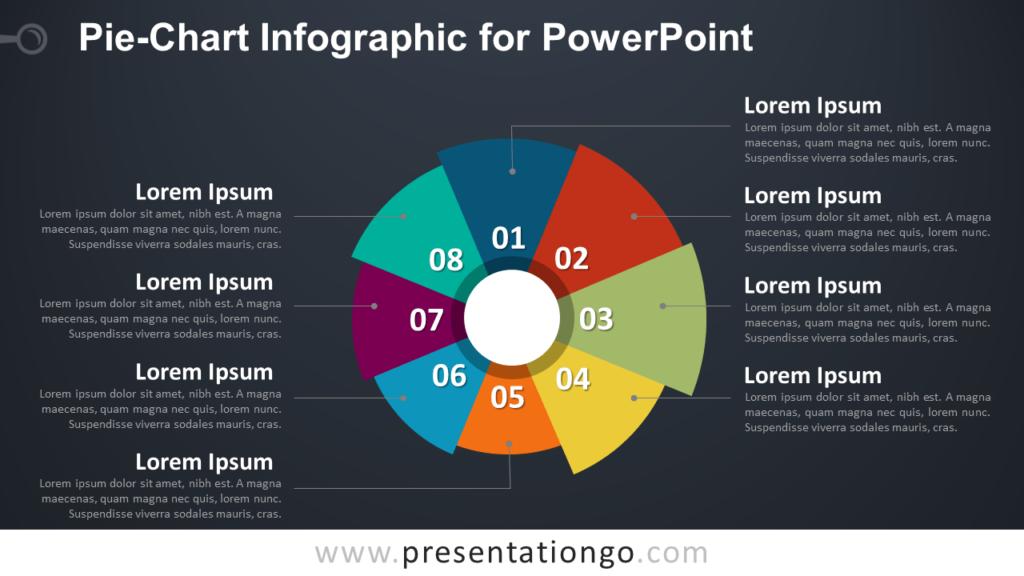 Pie-Chart Infographic PowerPoint Template - Dark Background