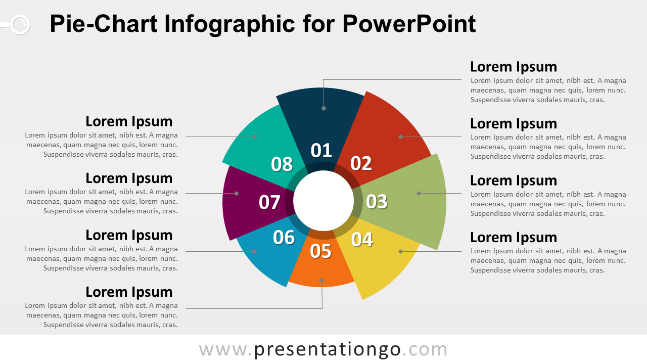 pie-chart infographic for powerpoint - presentationgo, Powerpoint templates