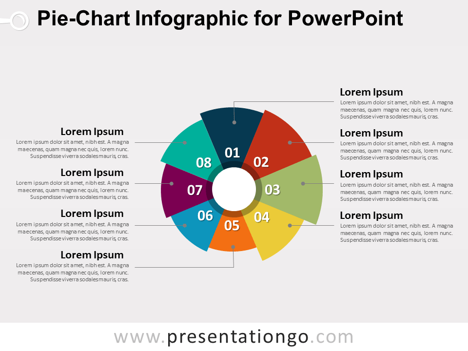 Pie Chart Infographic For Powerpoint Presentationgo