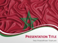 PowerPoint Template with the Flag of Morocco