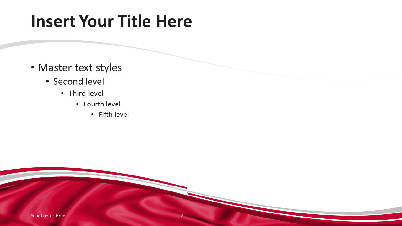 Poland Flag PowerPoint Template - Content Slide