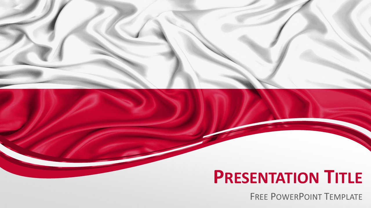 Poland Flag PowerPoint Template