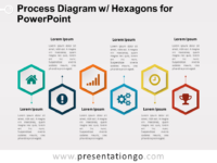 Process Diagram with Hexagons for PowerPoint