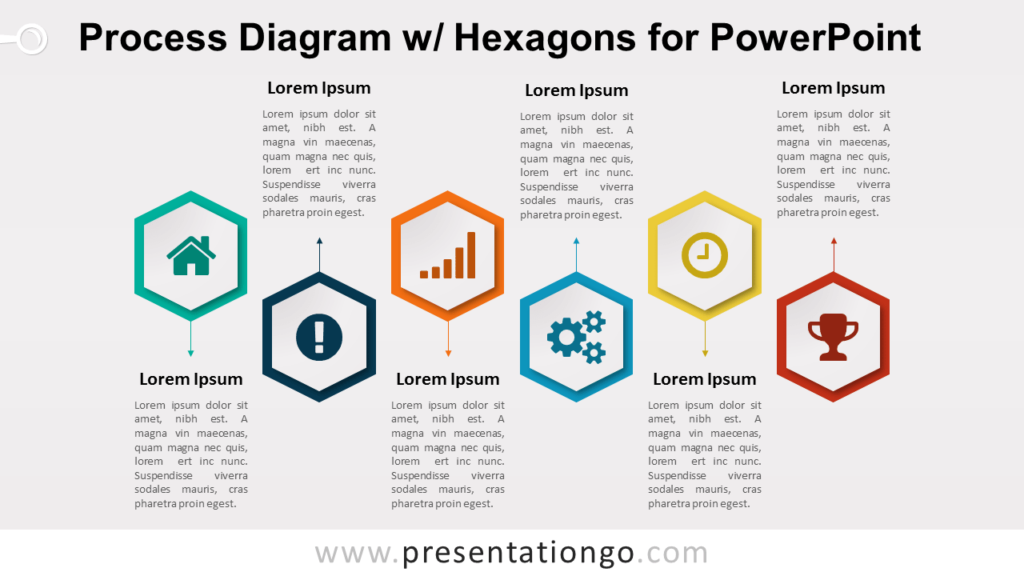 Process with Hexagons for PowerPoint