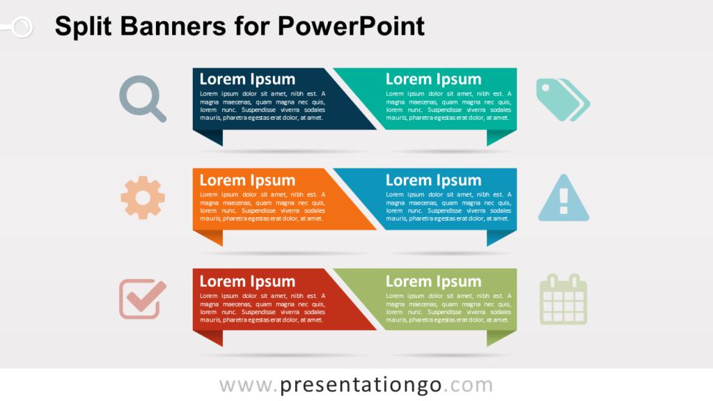 Split Banners PowerPoint Template