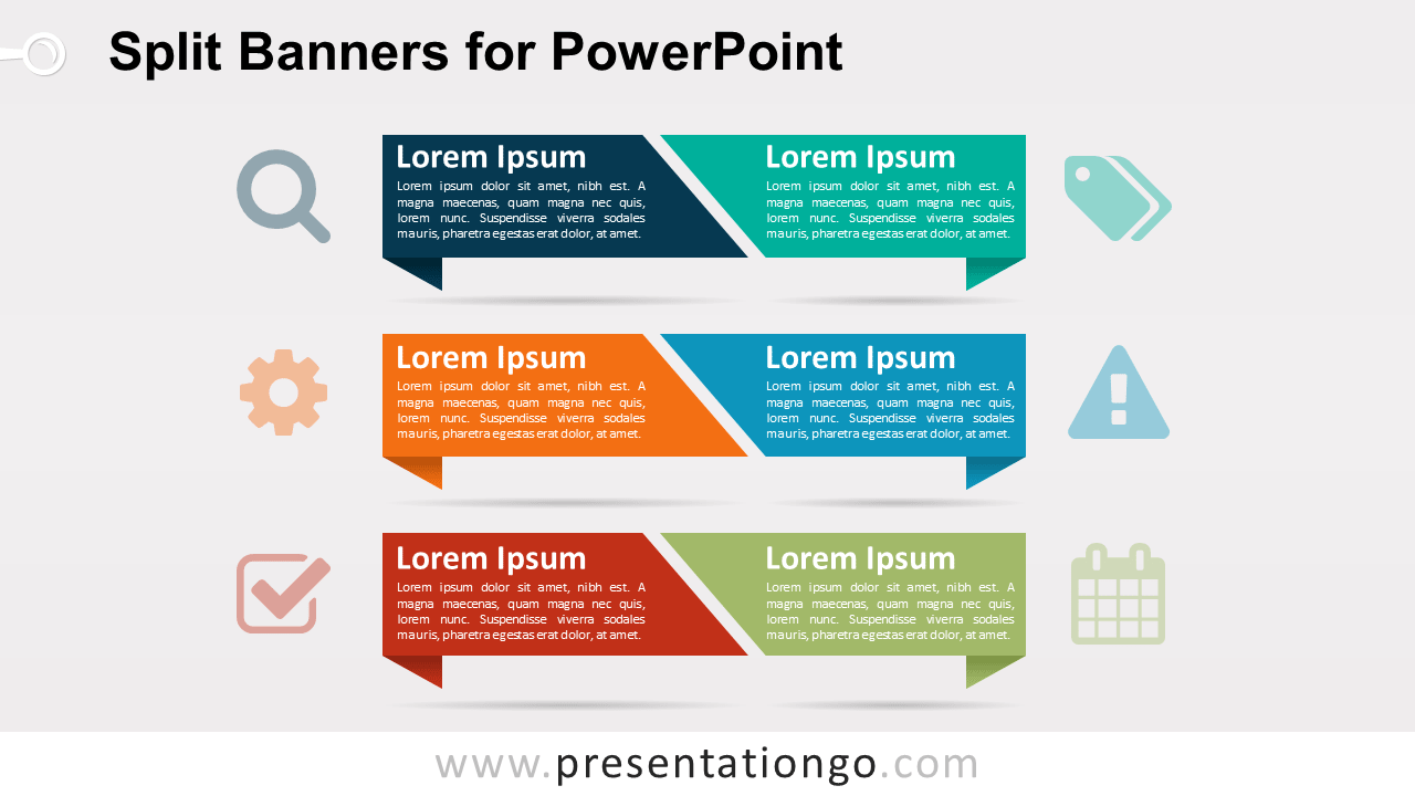 Split Banners PowerPoint Template