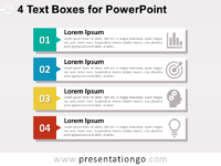 4 Text Boxes for PowerPoint
