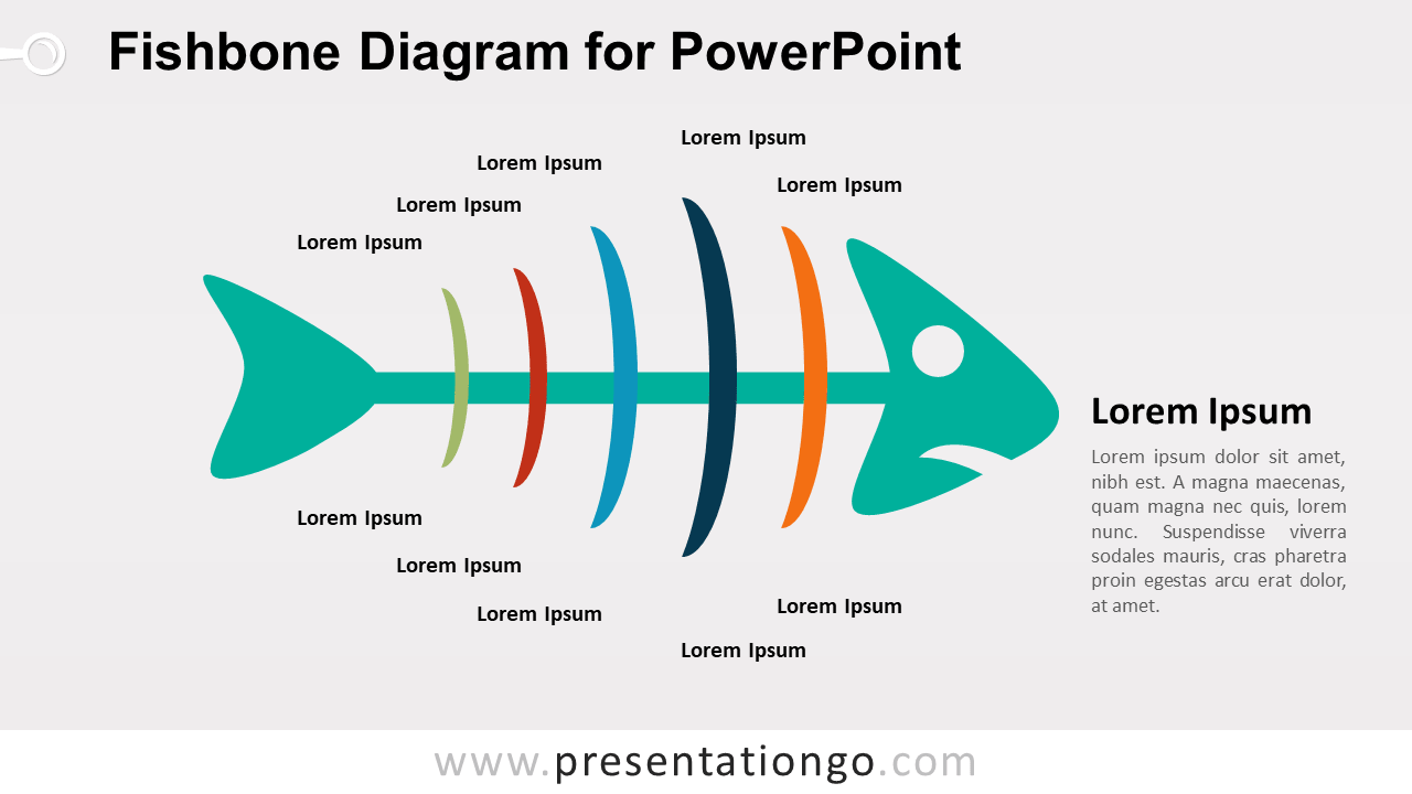 Cause and Effect - Fishbone Diagram for PowerPoint - Colored Version