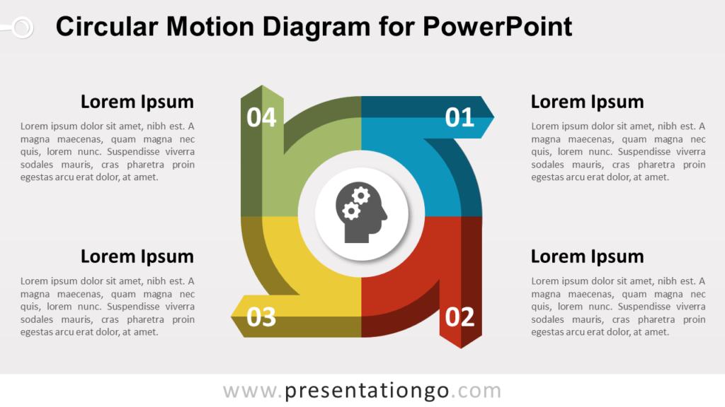 Editable circular Diagram for PowerPoint