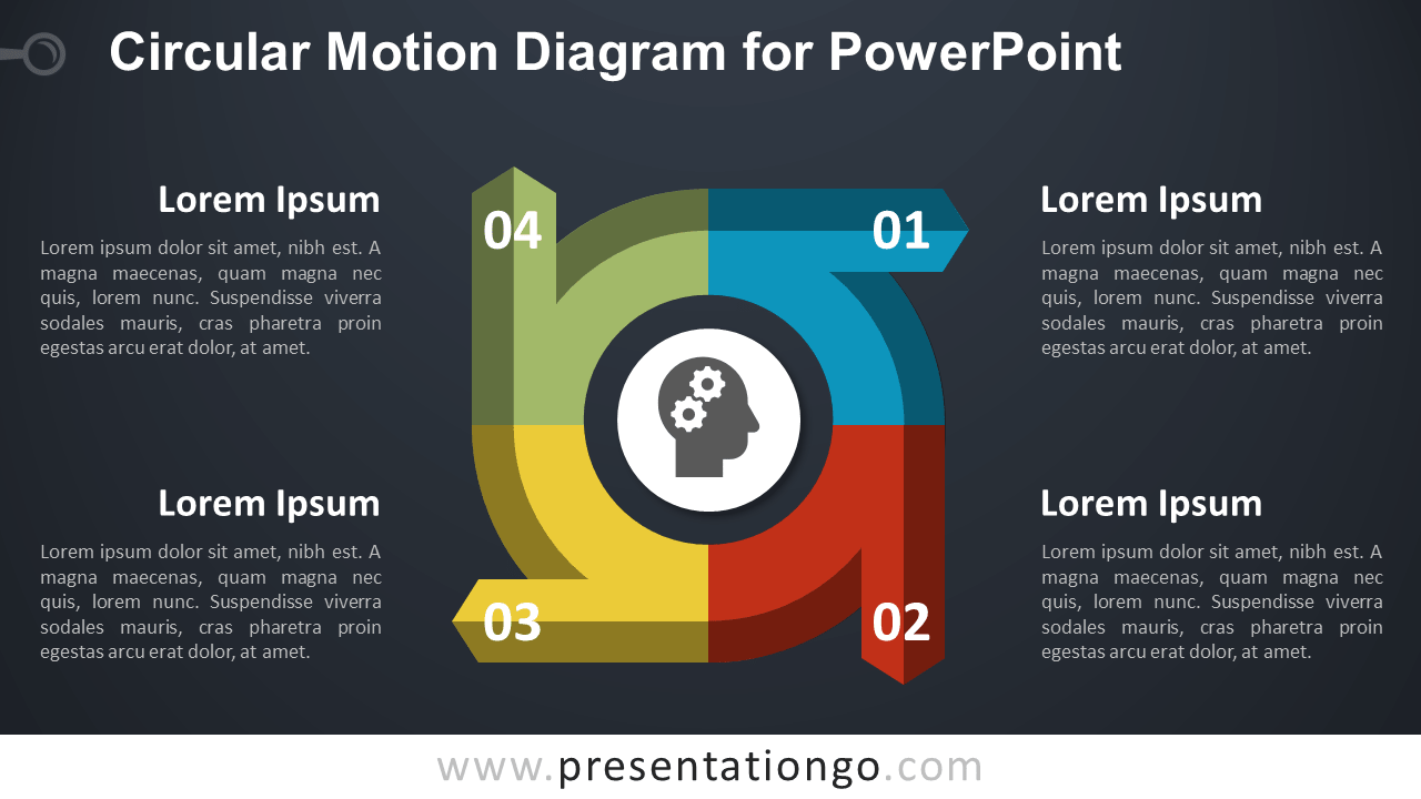 Circular Diagram for PowerPoint - Dark Background