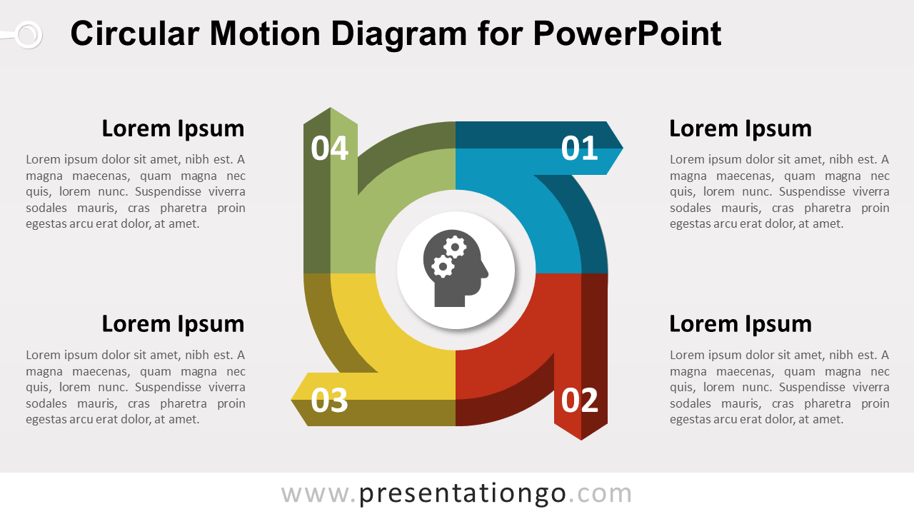 Editable circular Diagram for PowerPoint