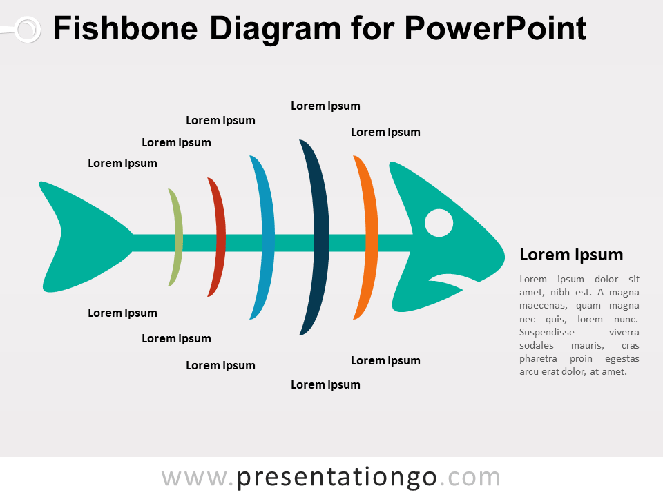 fishbone diagram for powerpoint colored version - Fishbone Model Template