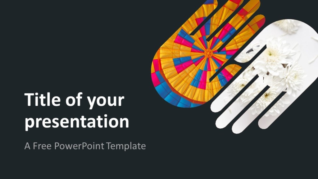 Free PowerPoint Template with 2 Hands - Dark Background
