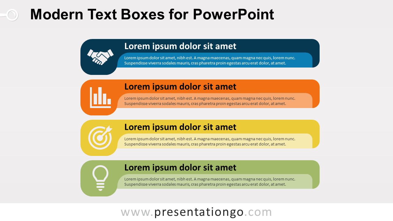 Modern Text Boxes or Banners for PowerPoint