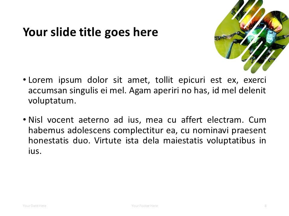 PowerPoint Template with 2 Hands (1 Shape) - Title and Content Slide