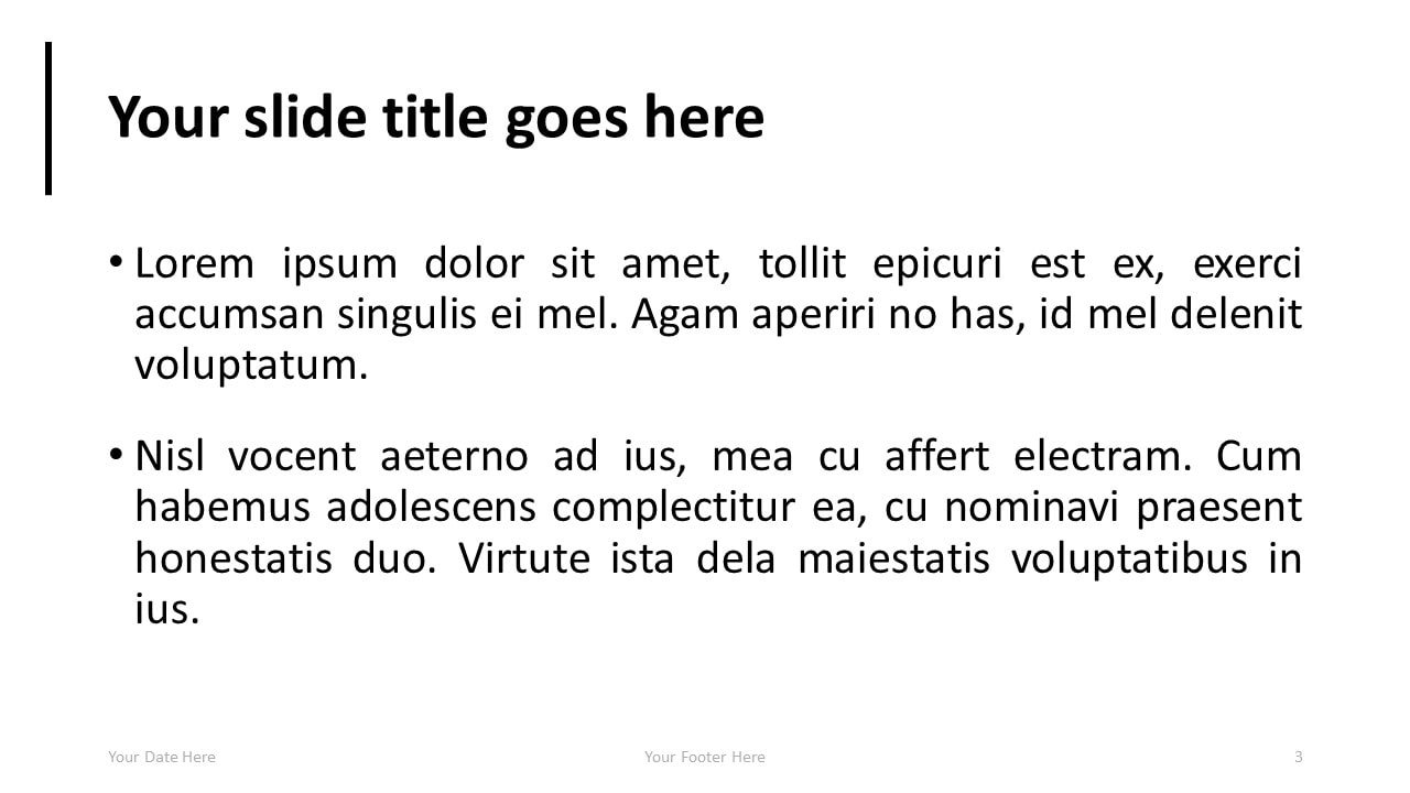 simple powerpoint template with full image presentationgo com