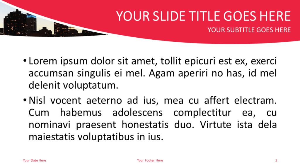 City Free PowerPoint Template - Slide 2