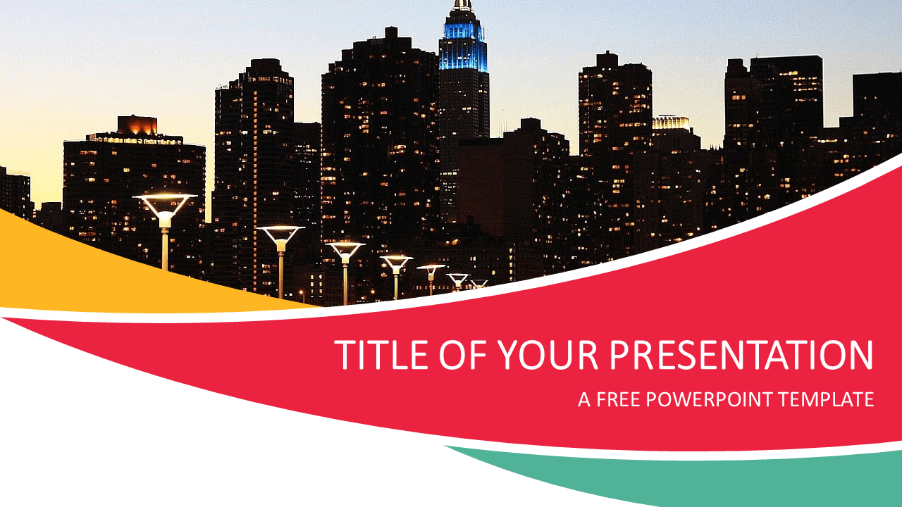 City Free PowerPoint Template