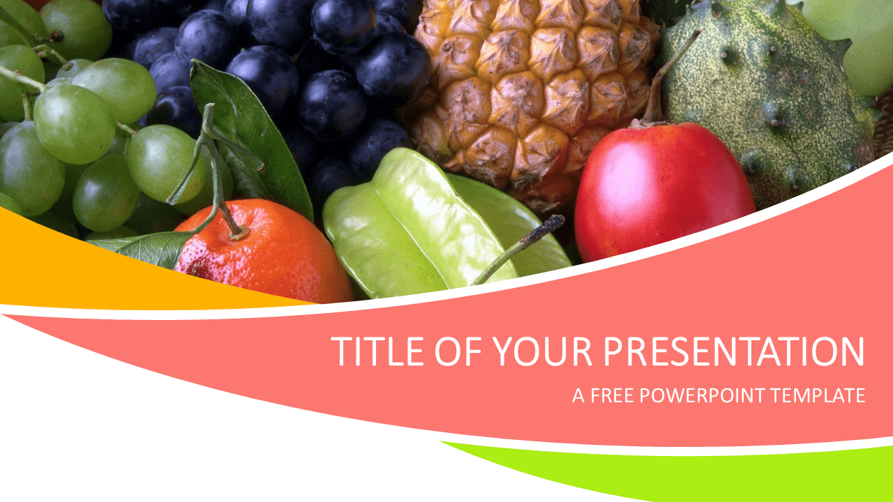 fruits powerpoint template - presentationgo, Modern powerpoint