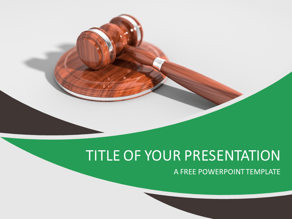 justice and law powerpoint template presentationgocom