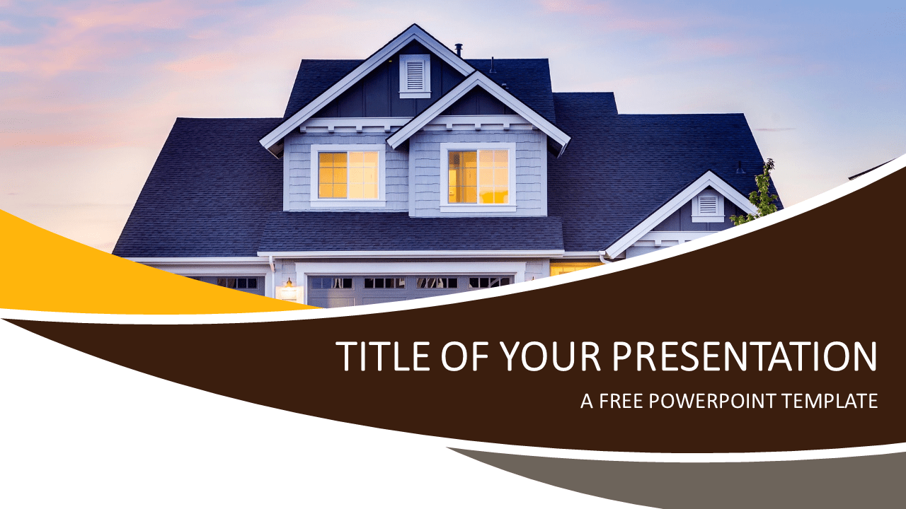 real estate powerpoint template - presentationgo, Modern powerpoint