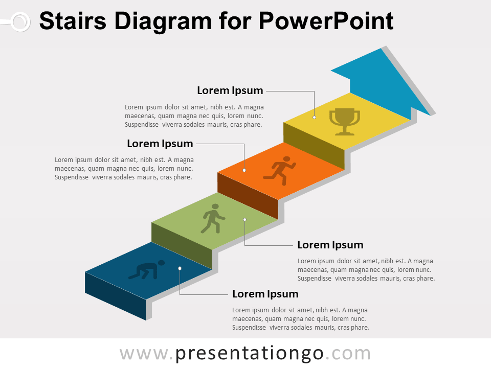 stairs diagram for powerpoint presentationgo comview larger image free stairs diagram for powerpoint