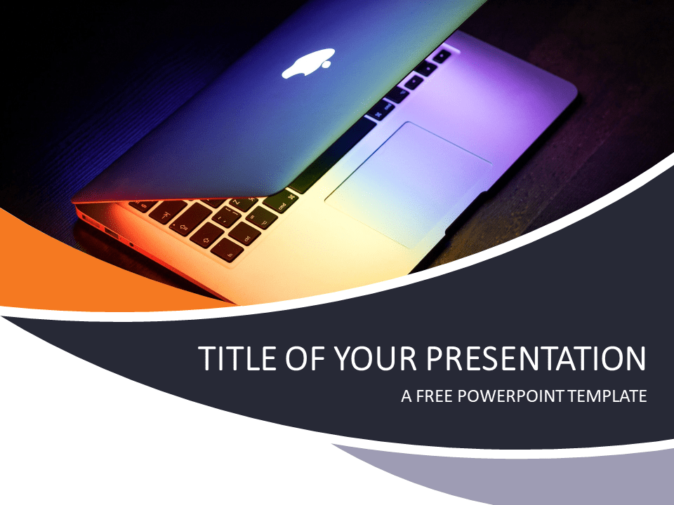technology and computers powerpoint template - presentationgo, Modern powerpoint