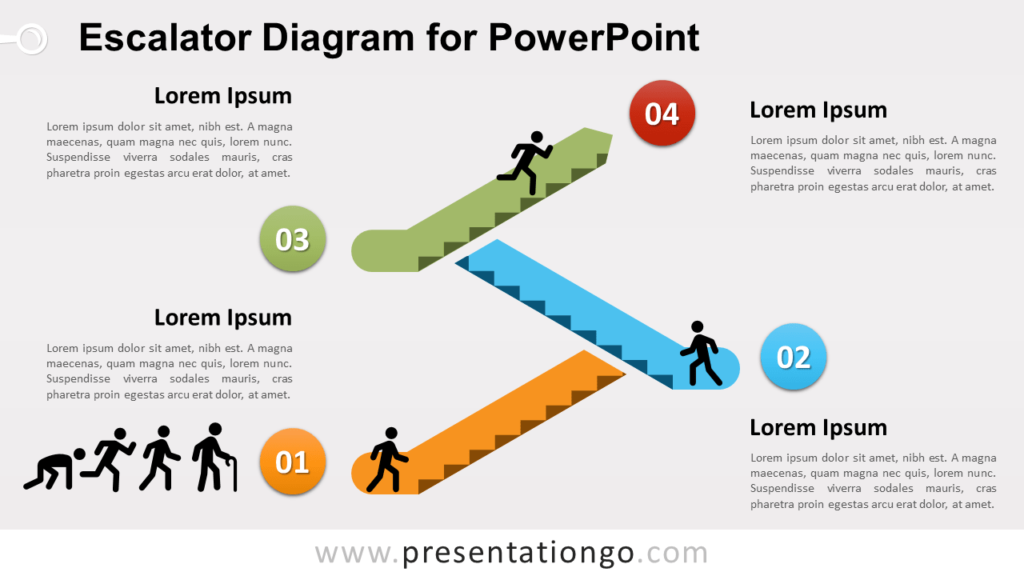 Free Escalator Diagram for PowerPoint