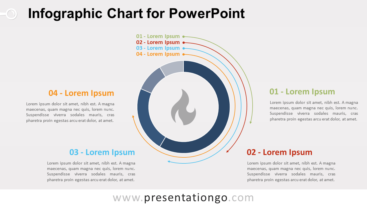 Free Infographic Chart Template for PowerPoint