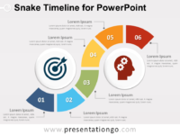 Free timelines powerpoint templates presentationgo snake timeline diagram for powerpoint toneelgroepblik Images