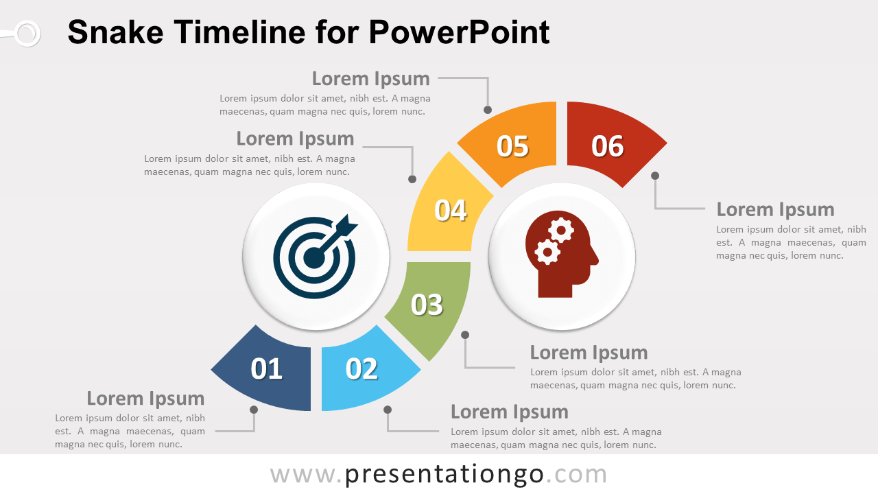 Snake Timeline Diagram For Powerpoint Presentationgo Com