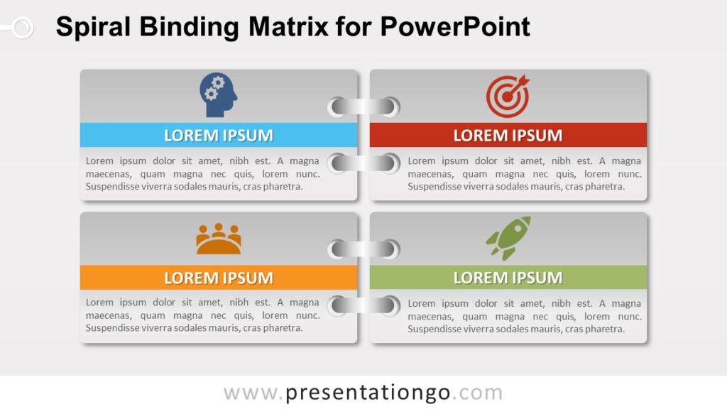 Free Gradient Spiral Binding Matrix Template for PowerPoint