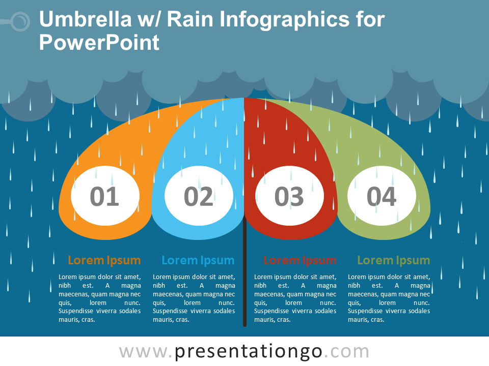 Umbrella w rain infographics for powerpoint presentationgo free umbrella with rain powerpoint infographics toneelgroepblik Images