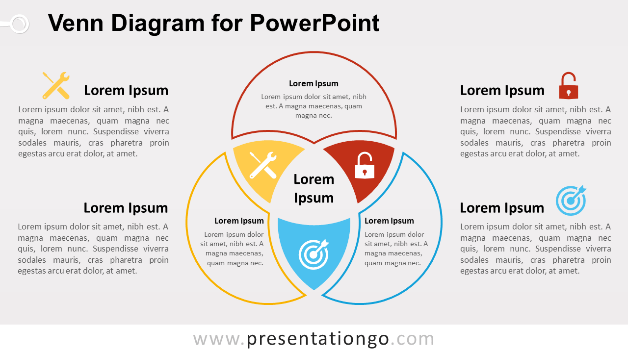 venn diagram for powerpoint - presentationgo, Powerpoint templates