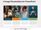 4 Image Placeholders PowerPoint Template